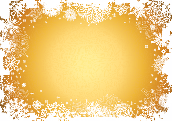 Beautiful snowflake photo frame vector free vector 4vector