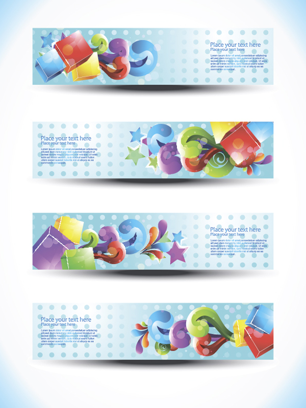free vector Beautiful special effects design banners vector
