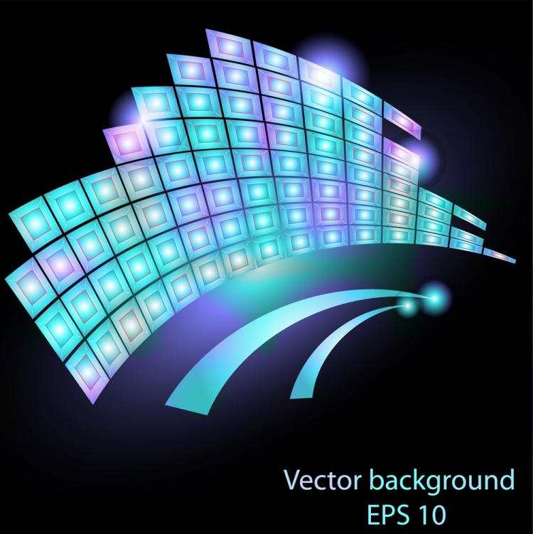 free vector Beautiful stream line 04 vector