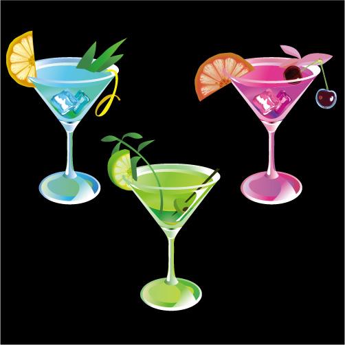 free vector Beautiful summer drinks