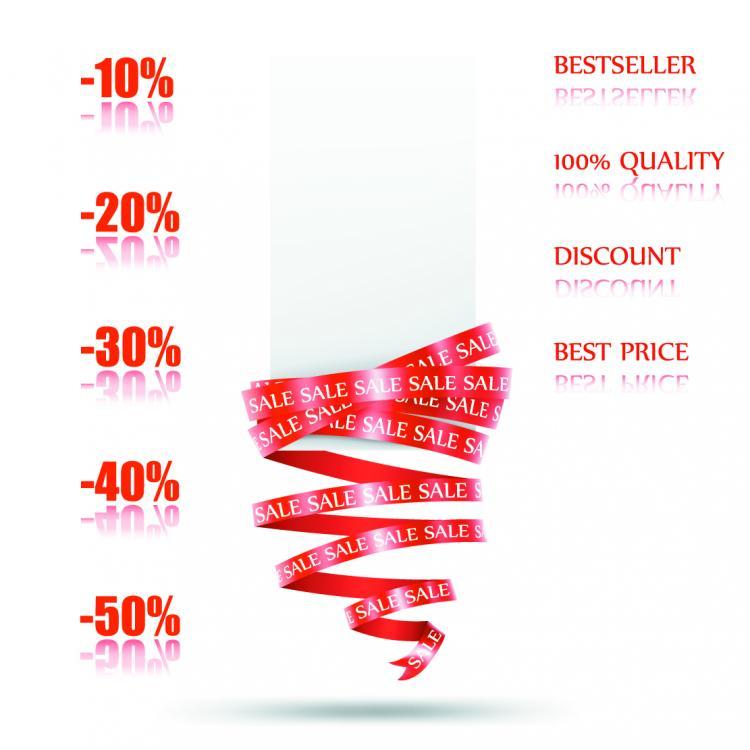 free vector Beautiful supermarket discount card vector