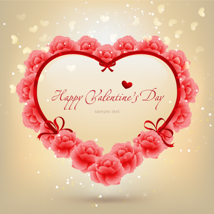 beautiful valentine day vector free vector / vector, Beautiful flower