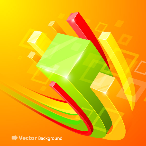 free vector Beautiful vector background 5 cube
