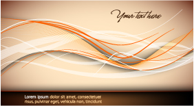 free vector Beautiful vector background curve