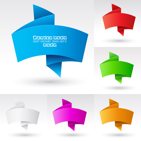 free vector Beautiful vector graphics 3 origami