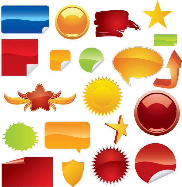 free vector Beautiful web20 icon vector