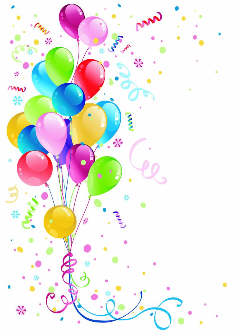 Фон с днём рождения шарики