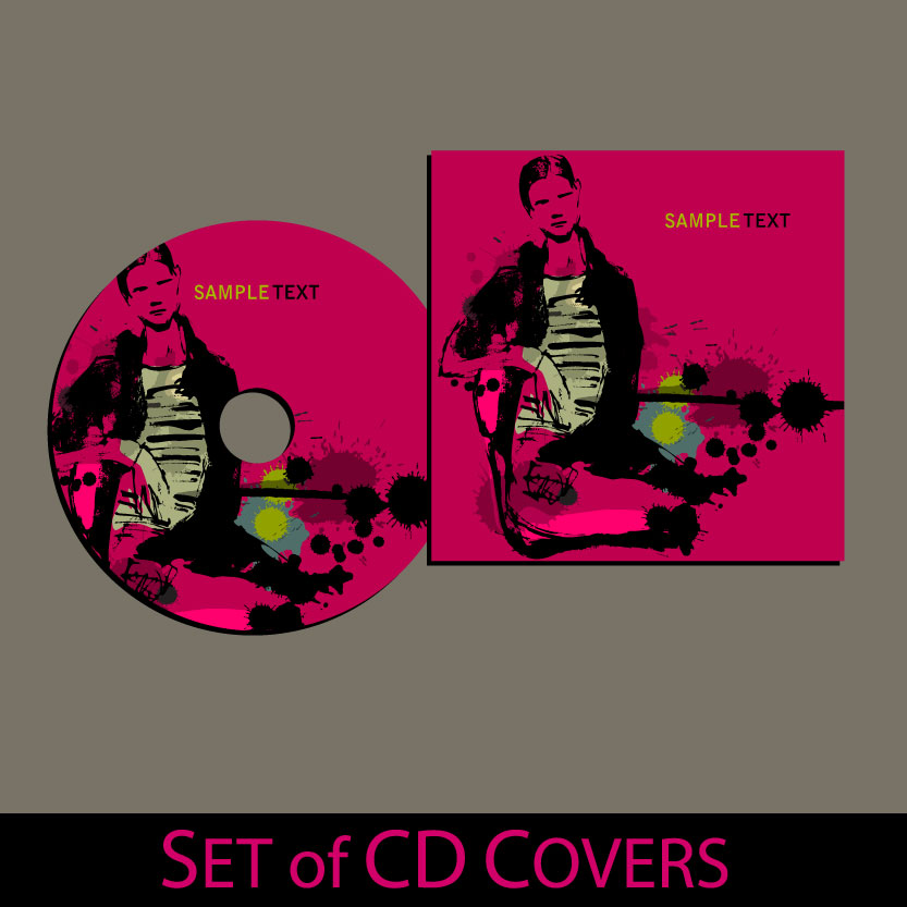 free vector Beautifully packaged cd 01 vector