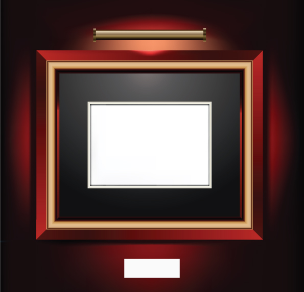 free vector Beautifully realistic frame vector