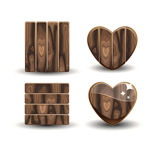 free vector Beautifully realistic wood signs vector