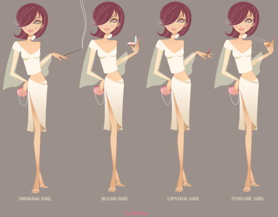 free vector Beauty Girl Vector Graphics