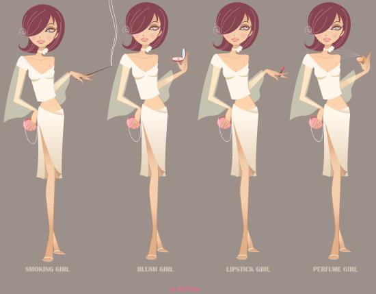 free vector Beauty Girl Vector Graphics