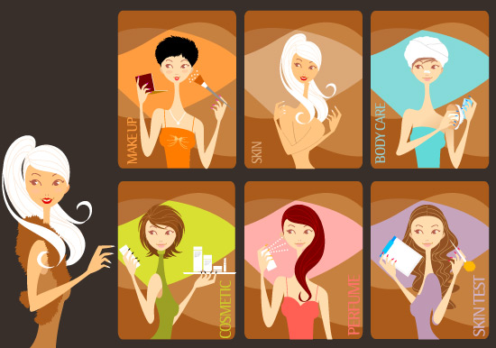 free vector Beauty Girls