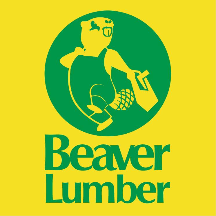 free vector Beaver lumber