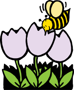 free vector Bee And Flowers clip art