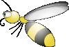 free vector Bee clip art 119419