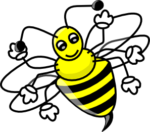 Bee clip art Free Vector / 4Vector