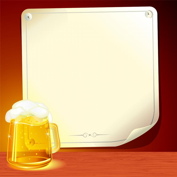 free vector Beer and background paper 03 vector