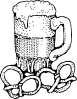 free vector Beer And Pretzels clip art