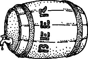 free vector Beer Barrel clip art