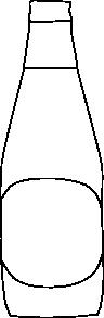free vector Beer Bottle Outline clip art
