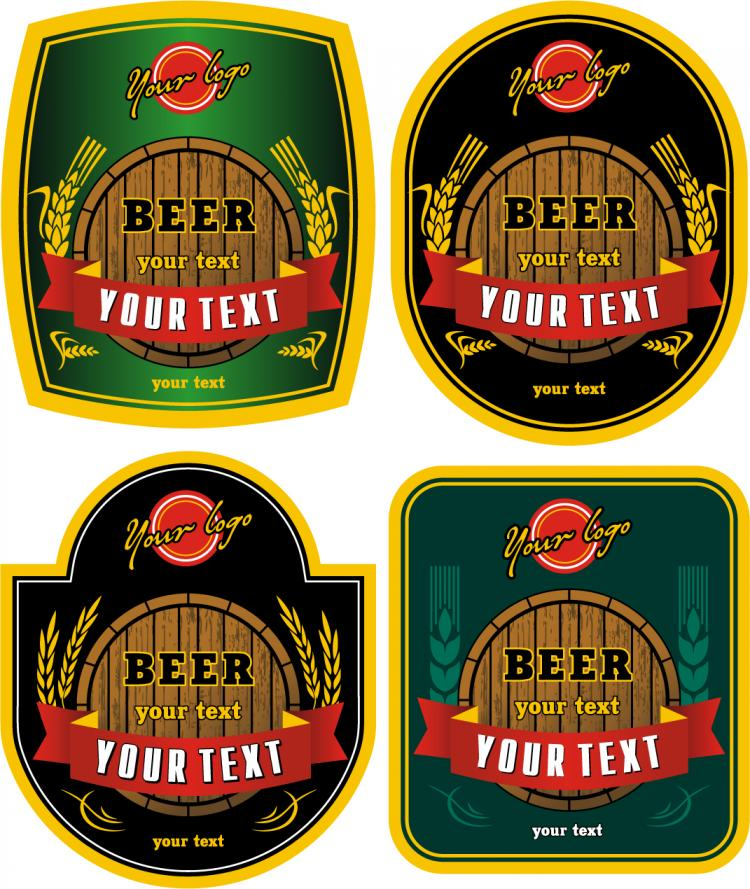 Free Vector Beer Bottle Stickers Depositphotos Stock Photo Perfect Red