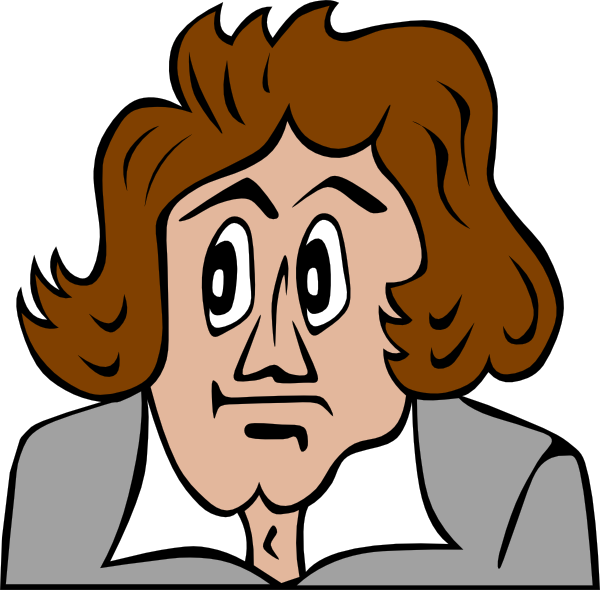 free vector Beethoven Cartoon clip art