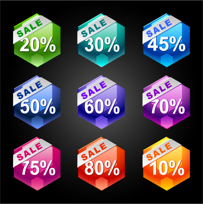free vector Behind the discount label 03 vector