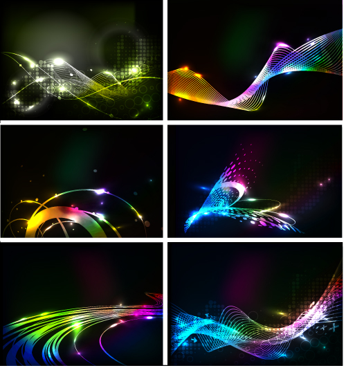 free vector Behind the dynamic flare vector