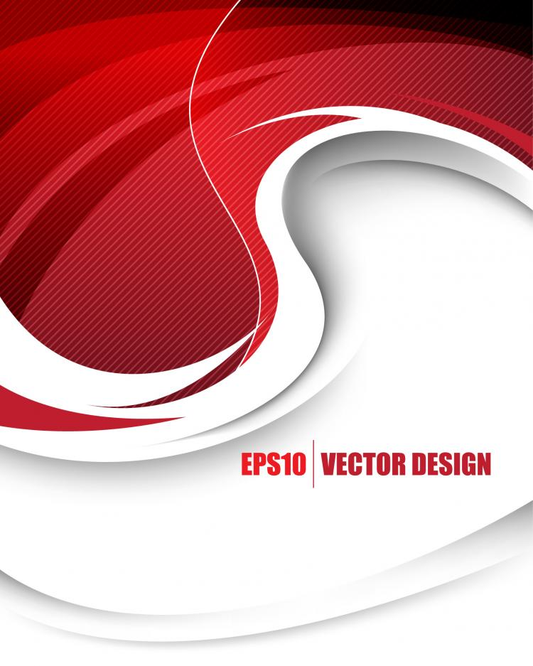 Behind the red background vector Free Vector / 4Vector