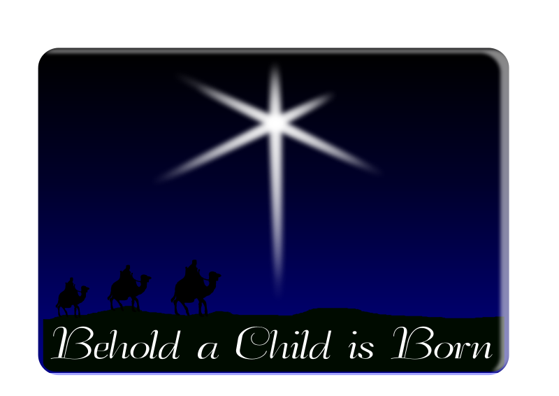 Behold a child is born free vector 4vector for A star is born kids salon