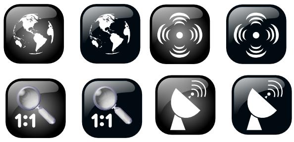 free vector Ben Map Geolocalisation Icon Set clip art