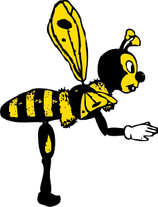 free vector Bending Bee From Side clip art