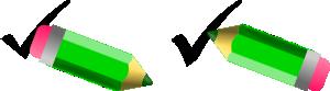 free vector Benoitbalon Check Uncheck With Pencil clip art