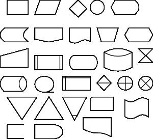 free vector Berteh Flow Diagram Symbols clip art