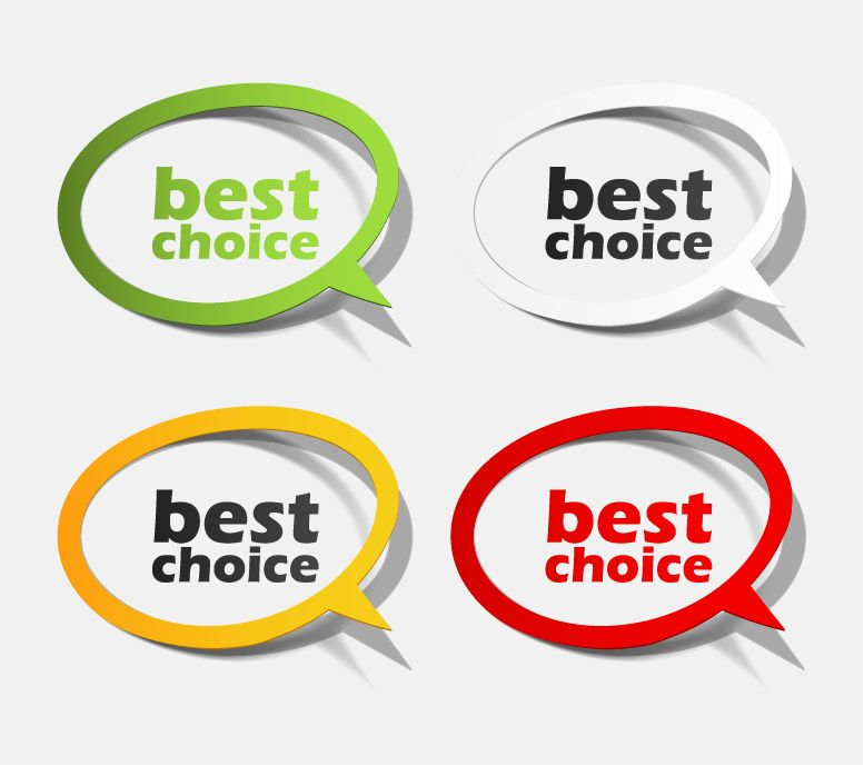 Best Choice Sticker Collection Free Vector / 4Vector