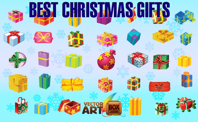 free vector best christmas gifts
