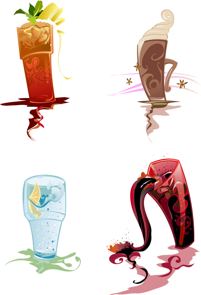 free vector Beverage clip art illustrations