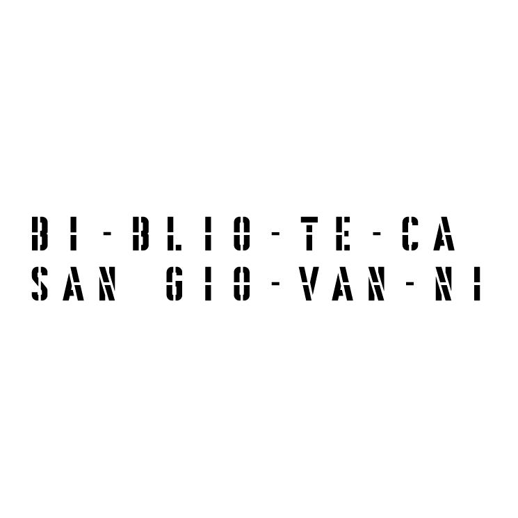 free vector Biblioteca san giovanni