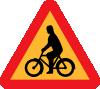 free vector Bicycles Roadsign clip art
