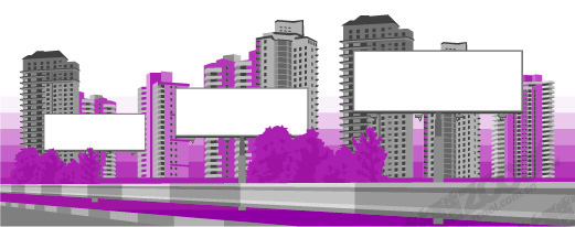 free vector Big banner on modern city