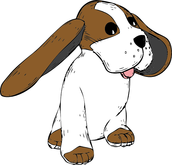 free vector Big Earred Dog clip art