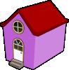 free vector Bigredsmile A Little Purple House clip art