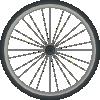 free vector Bikewheel clip art
