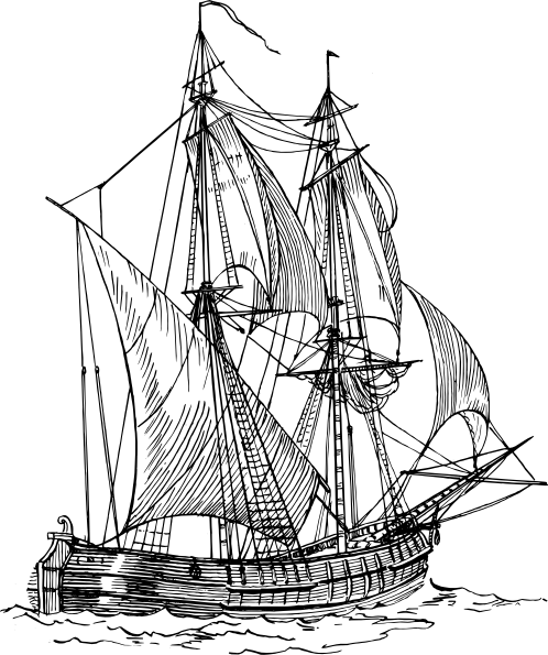 free vector Bilander Ship clip art