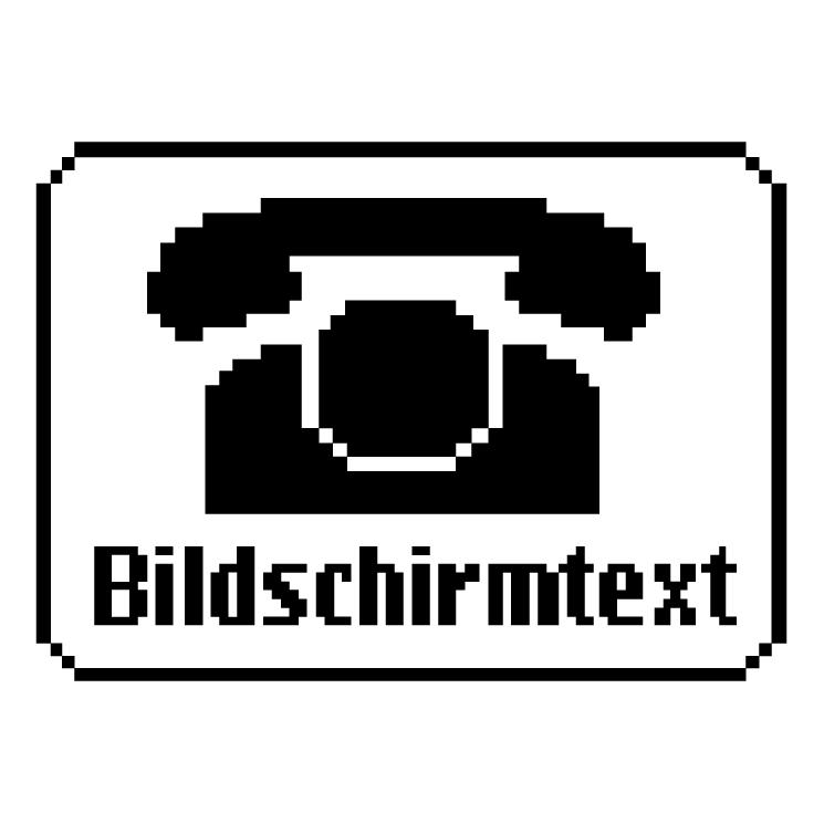free vector Bildschirmtext