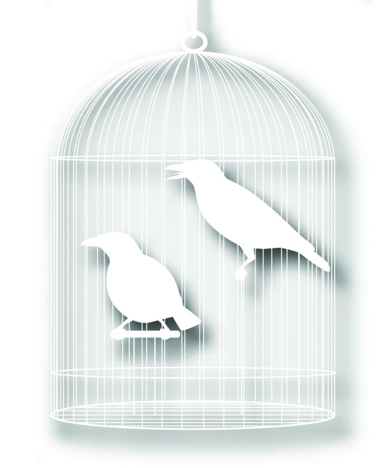 free vector Bird cage with papercuts vector