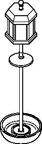 free vector Bird Feeder Pole Outline clip art