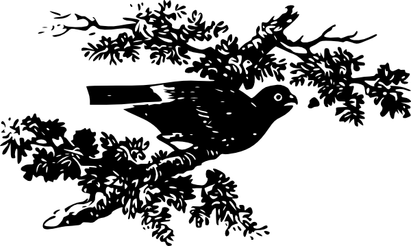 free vector Bird On A Branch clip art