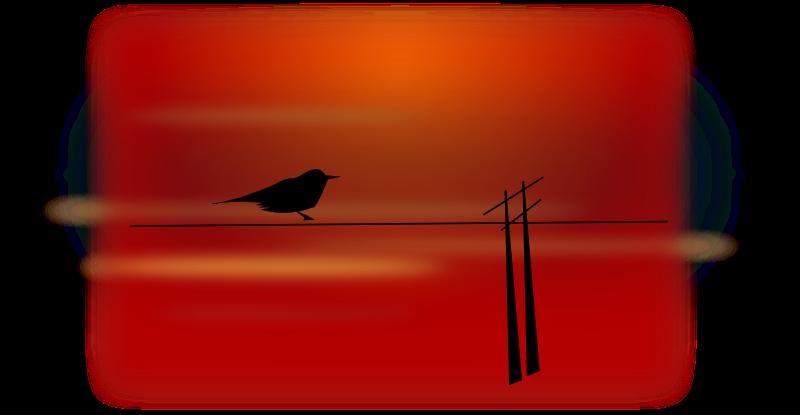 free vector Bird on wire
